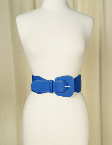 Royal Blue Pinup Cinch Belt by Cats Like Us : Cats Like Us