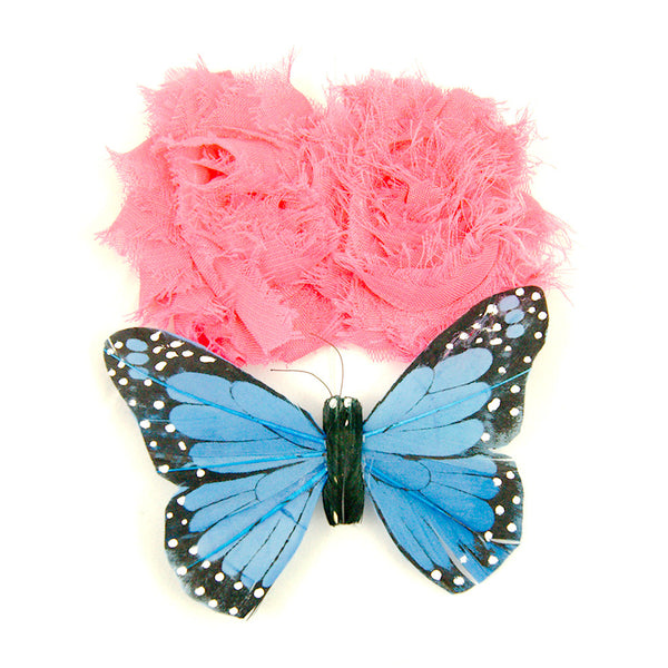 Cats Like Us Shabby Butterflies Hair Flower for sale at Cats Like Us - 1