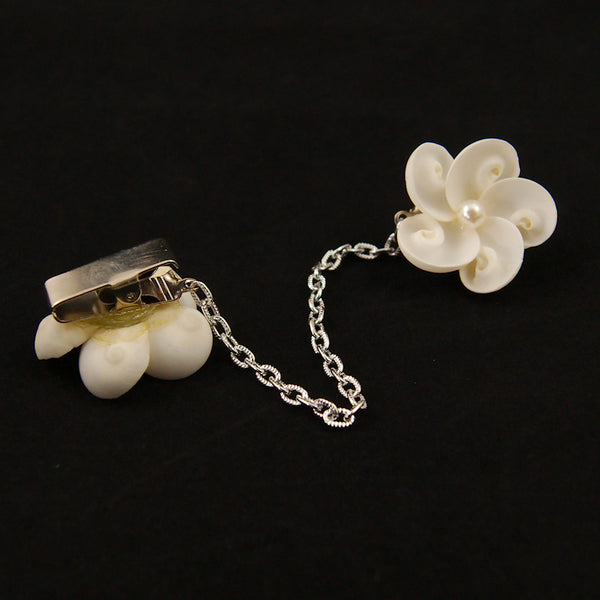 Shell & Pearl Sweater Clips by Cats Like Us : Cats Like Us