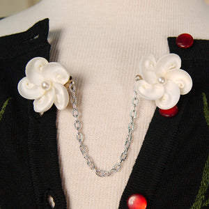 Shell & Pearl Sweater Clips