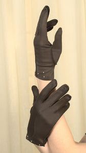 Short Brown Pearl Gloves - Cats Like Us