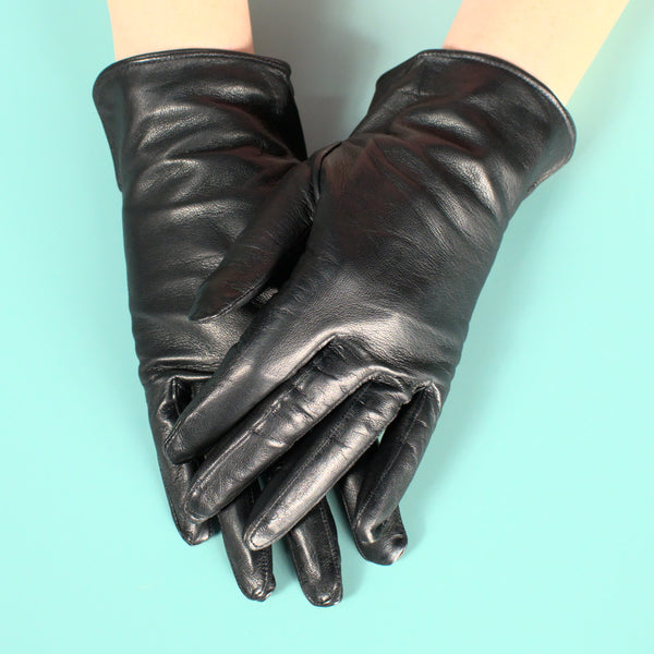 Short Leather Driving Gloves