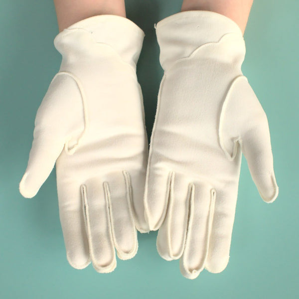 Short White Eyelet Gloves - Cats Like Us