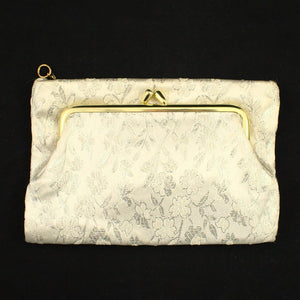 Silver Brocade Change Purse - Cats Like Us