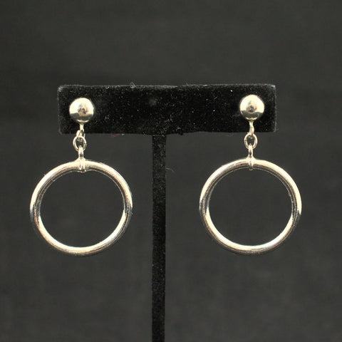 Silver Ring Hoop Earrings