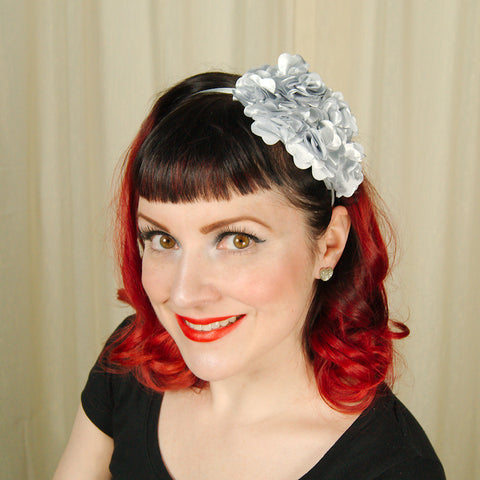Silver Rosette Headband - Cats Like Us