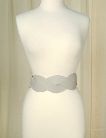 Cats Like Us Silver Swirl Cinch Belt for sale at Cats Like Us - 1