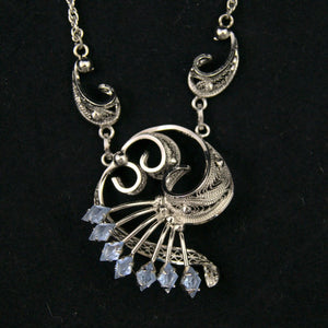 Silver Swirl Necklace - Cats Like Us