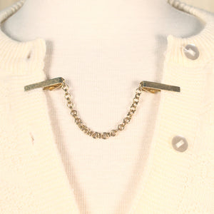 Simple Gold Vintage Sweater Clips