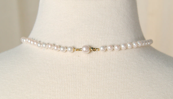 Single White Pearl Necklace