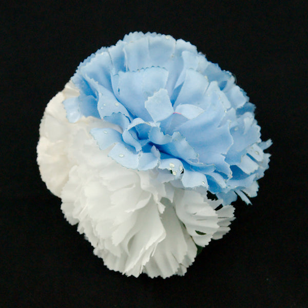 Cats Like Us Sky Blue Cluster Flower Pin for sale at Cats Like Us - 3