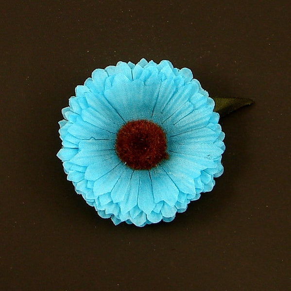 Cats Like Us Sky Blue Mini Daisy Hair Flower for sale at Cats Like Us - 1
