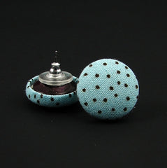 Sky Blue Polka Dot Earrings