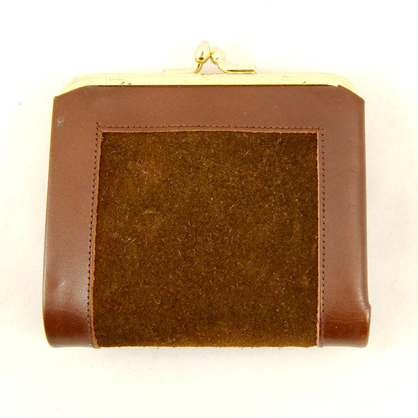 Small Brown Cowhide Wallet - Cats Like Us