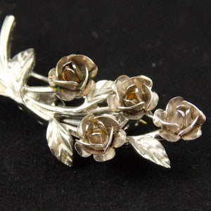 Small Rose Bouquet Brooch
