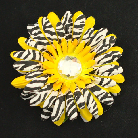 Small Yellow Zebra Hair Flower - Cats Like Us