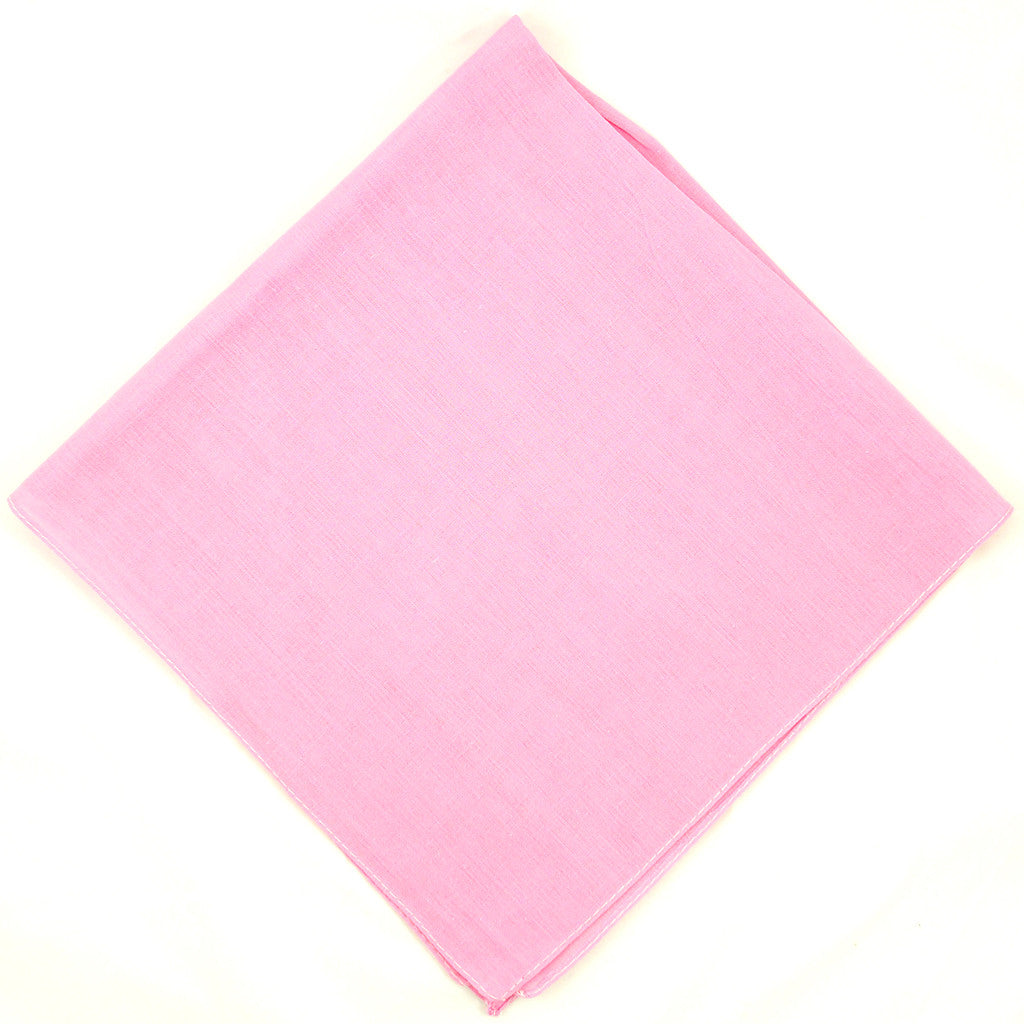 Cats Like Us Solid Pink Cotton Bandana for sale at Cats Like Us - 1