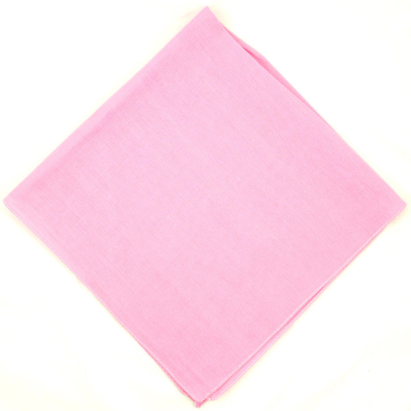 Solid Pink Cotton Bandana by Cats Like Us : Cats Like Us