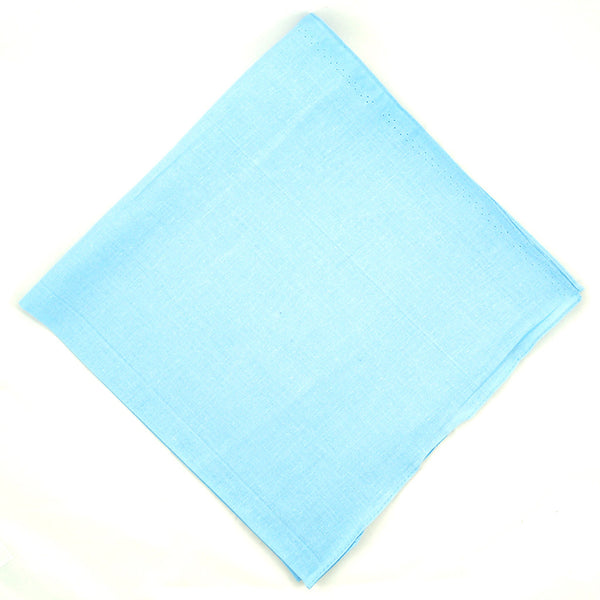 Cats Like Us Solid Sky Blue Cotton Bandana for sale at Cats Like Us - 1
