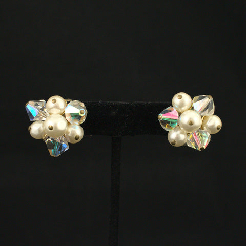 Sparkly Aurora Borealis Vintage Earrings