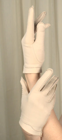 Tan Contrast Stitch Gloves