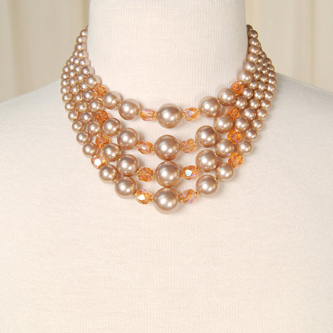 Tan Pearl & Aurora Necklace