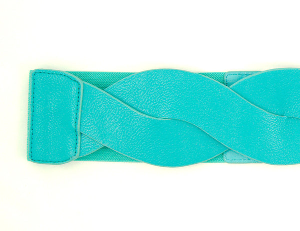 Teal Swirl Cinch Belt by Cats Like Us : Cats Like Us