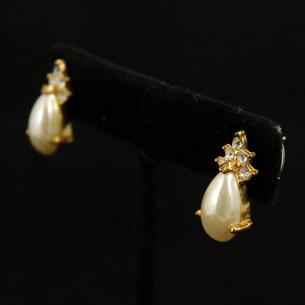 Teardrop Pearl Earrings