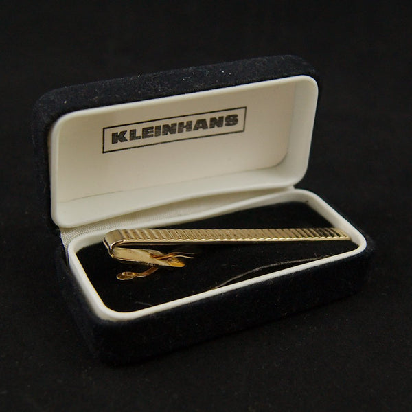 Textured Gold Tie Bar