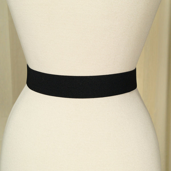 Thin Buckle Black Cinch Belt by Cats Like Us : Cats Like Us