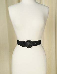 Thin Buckle Black Cinch Belt - Cats Like Us