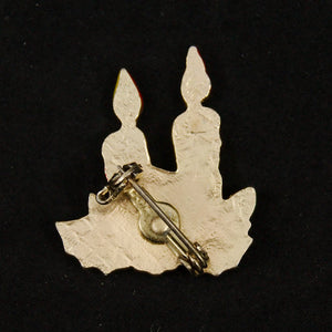 Tiny Christmas Candle Brooch