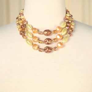 Triple Textured Pearls Necklace - Cats Like Us
