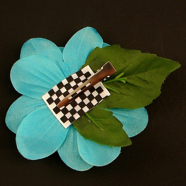 Cats Like Us Turquoise Sequin Hair Flower for sale at Cats Like Us - 2
