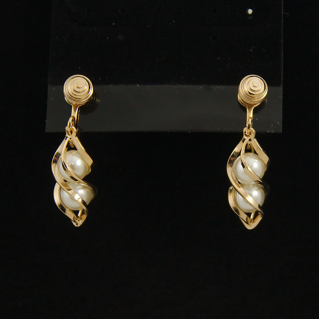 Twirling Pearls Earrings