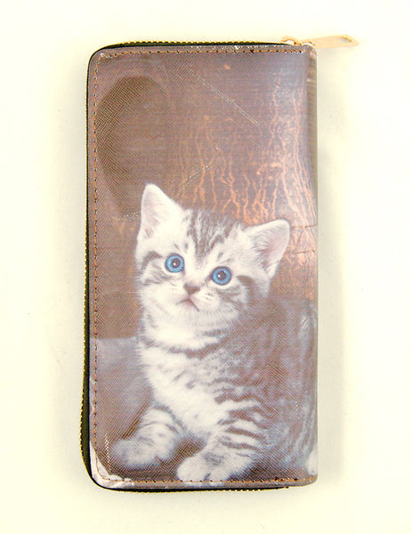 Vase Tabby Kitten Wallet by Cats Like Us : Cats Like Us