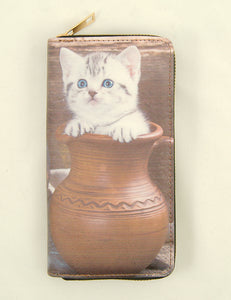Vase Tabby Kitten Wallet - Cats Like Us