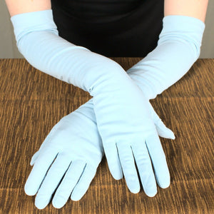 Very Long Baby Blue Gloves - Cats Like Us