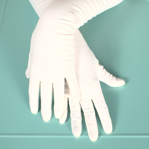 Very Long White Pearl Gloves