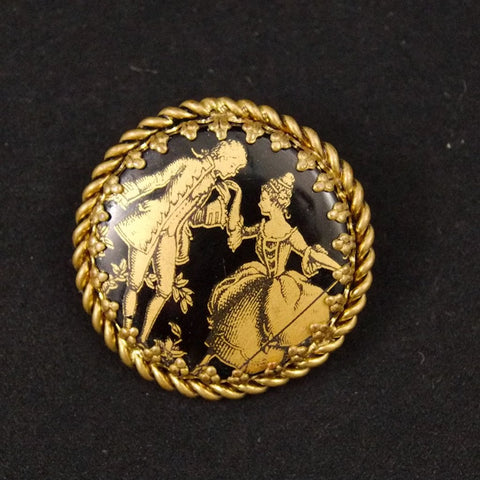 Victorian Couple Brooch