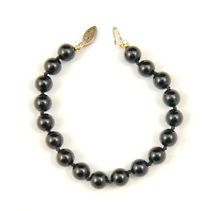 Vintage Black Bead Bracelet - Cats Like Us