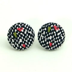 Vintage Flecks Button Earrings