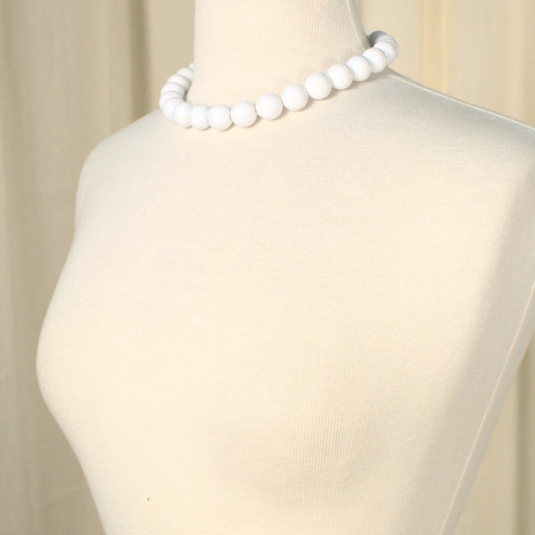 White Chunky Bead Necklace