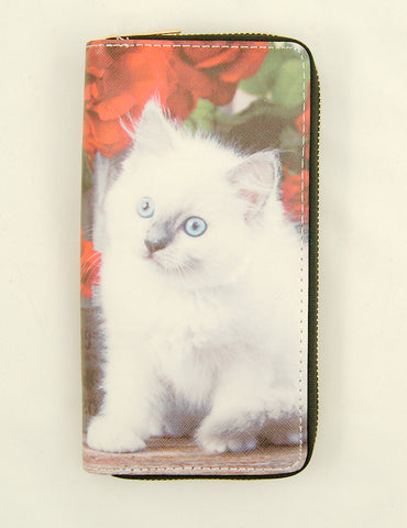 White Kitten Wallet