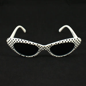 White Meow Polka Dot Sunglasses