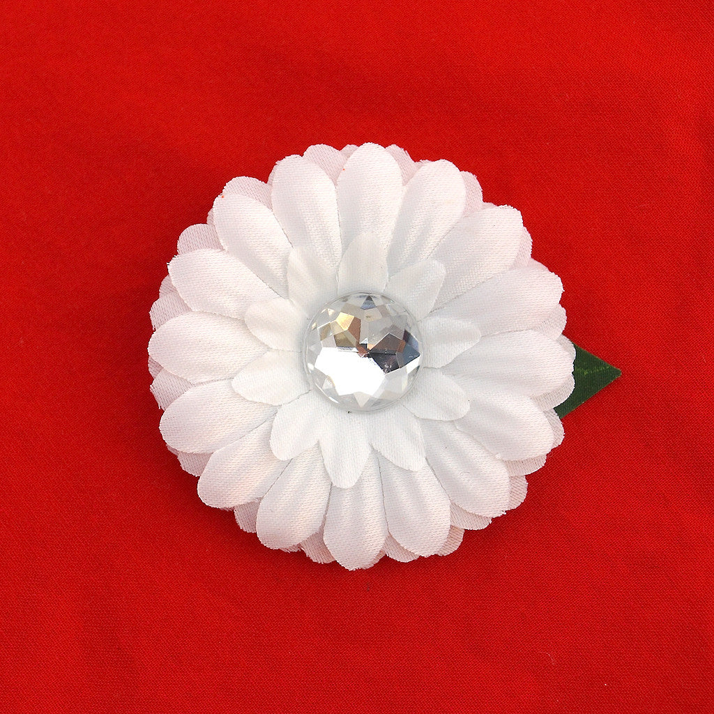 Cats Like Us White Mini Bling Daisy Flower for sale at Cats Like Us - 1