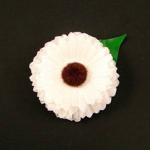 Cats Like Us White Mini Daisy Hair Flower for sale at Cats Like Us - 1