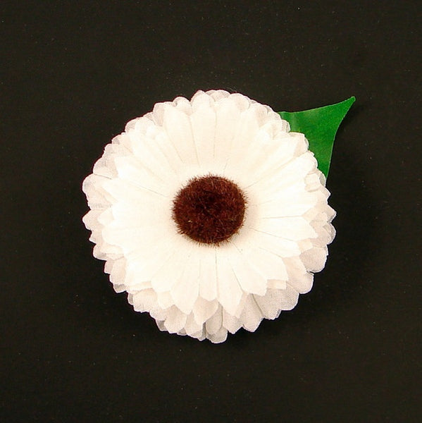 White Mini Daisy Hair Flower by Cats Like Us