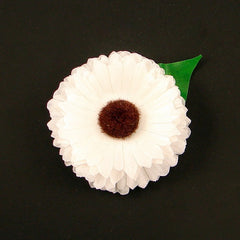 White Mini Daisy Hair Flower