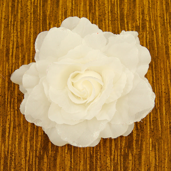 White Rose Hair Clip Pin